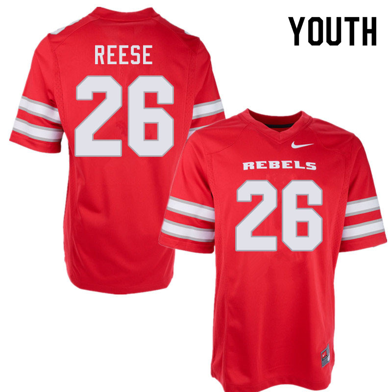 Youth #26 Courtney Reese UNLV Rebels College Football Jerseys Sale-Red