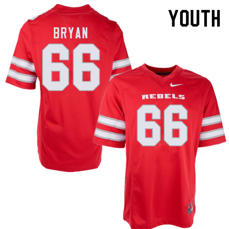 Youth #66 Dylan Bryan UNLV Rebels College Football Jerseys Sale-Red
