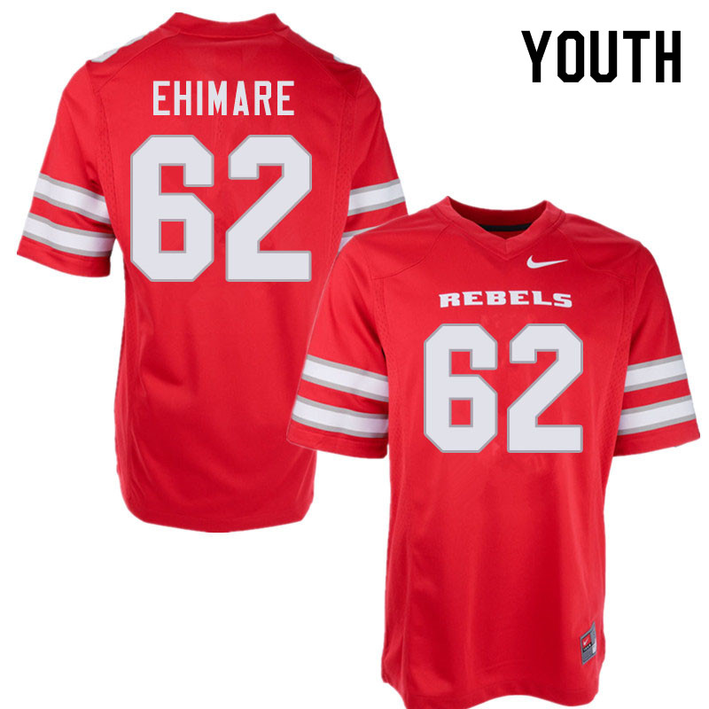 Youth #62 Eliel Ehimare UNLV Rebels College Football Jerseys Sale-Red