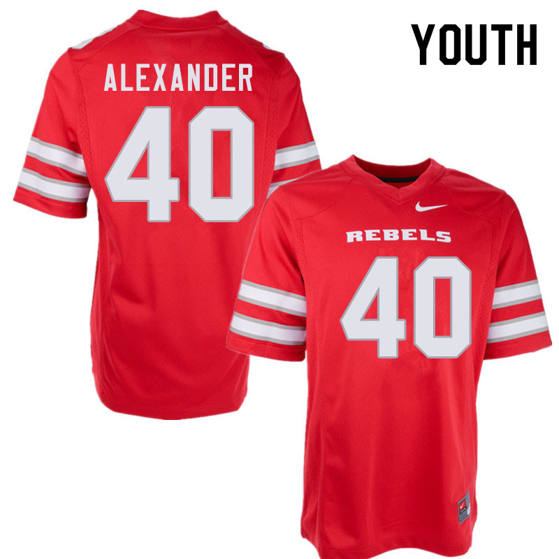 Youth #40 JD Alexander UNLV Rebels College Football Jerseys Sale-Red
