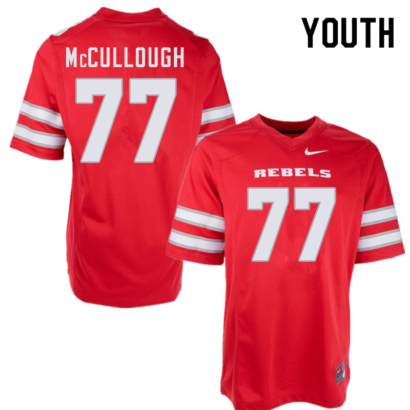 Youth #77 Jackson McCullough UNLV Rebels College Football Jerseys Sale-Red