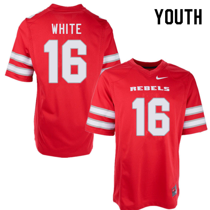 Youth #16 Javin White UNLV Rebels College Football Jerseys Sale-Red