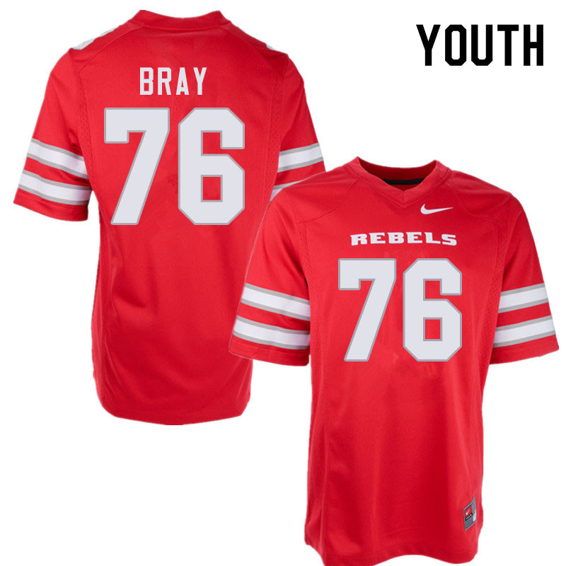 Youth #76 Michael Bray UNLV Rebels College Football Jerseys Sale-Red