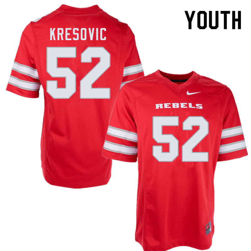 Youth #52 Nikola Kresovic UNLV Rebels College Football Jerseys Sale-Red