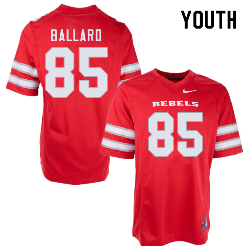 Youth #85 Patrick Ballard UNLV Rebels College Football Jerseys Sale-Red