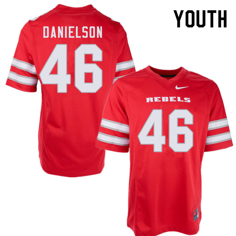 Youth #46 Royce Danielson UNLV Rebels College Football Jerseys Sale-Red