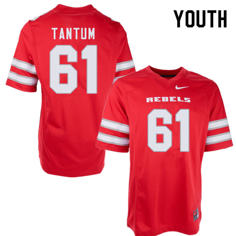 Youth #61 Ryan Tantum UNLV Rebels College Football Jerseys Sale-Red
