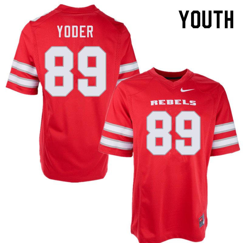 Youth #89 Tyler Yoder UNLV Rebels College Football Jerseys Sale-Red