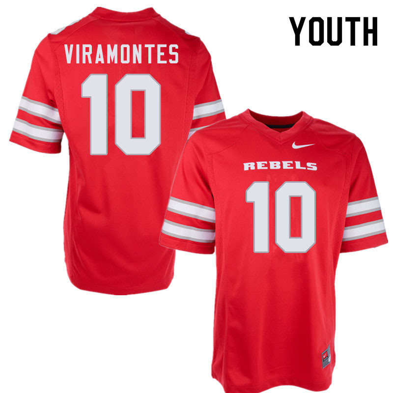 Youth #10 Vic Viramontes UNLV Rebels College Football Jerseys Sale-Red