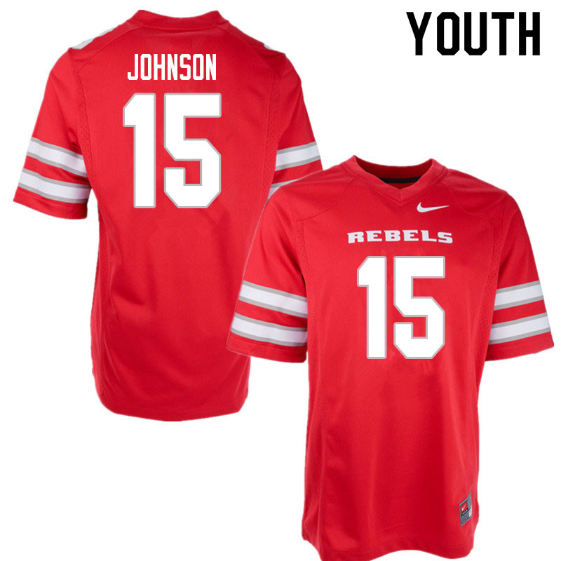 Youth #15 Alven Johnson UNLV Rebels College Football Jerseys Sale-Red