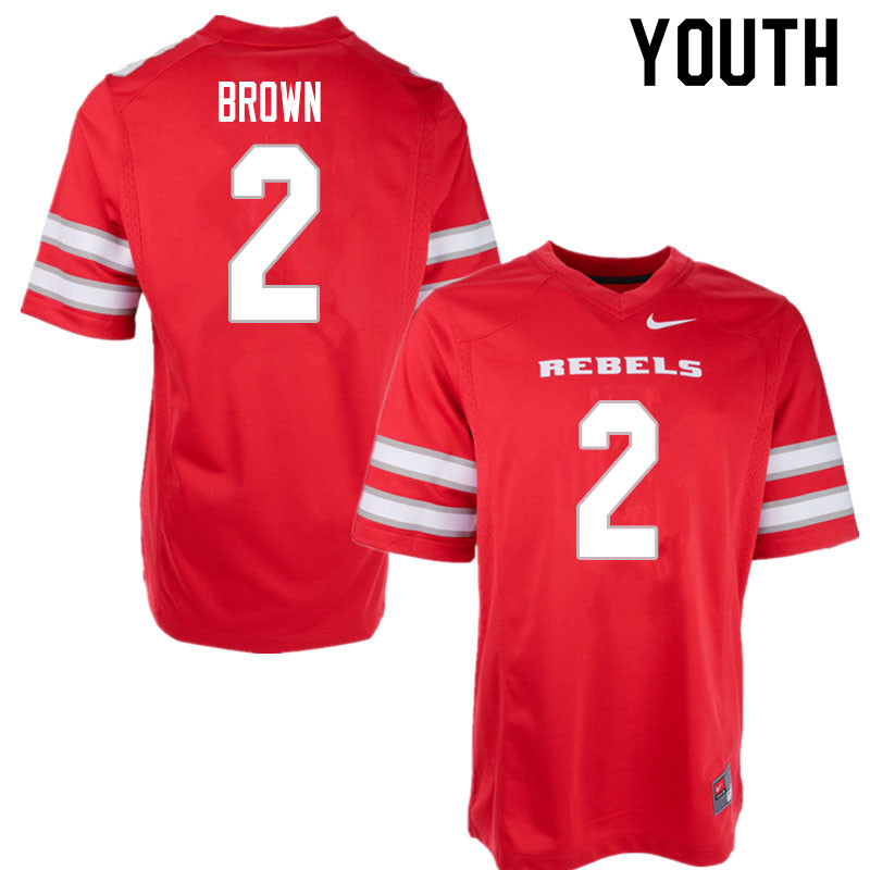 Youth #2 Dominic Brown UNLV Rebels College Football Jerseys Sale-Red