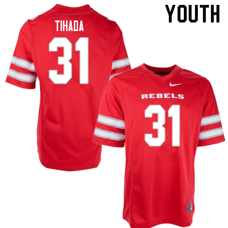Youth #31 Josh Tihada UNLV Rebels College Football Jerseys Sale-Red