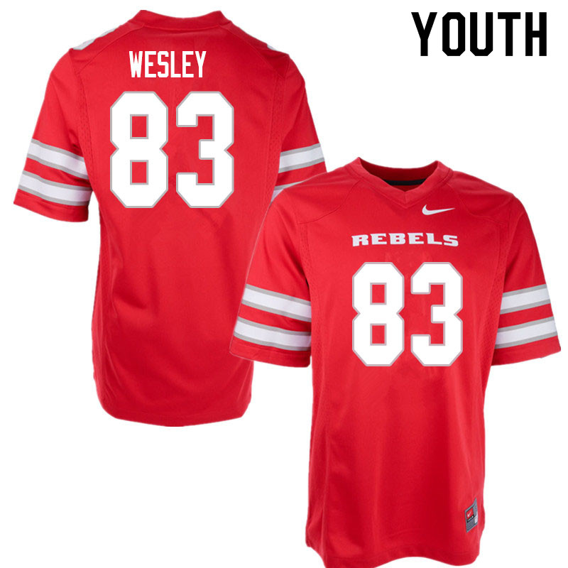 Youth #83 Malik Wesley UNLV Rebels College Football Jerseys Sale-Red