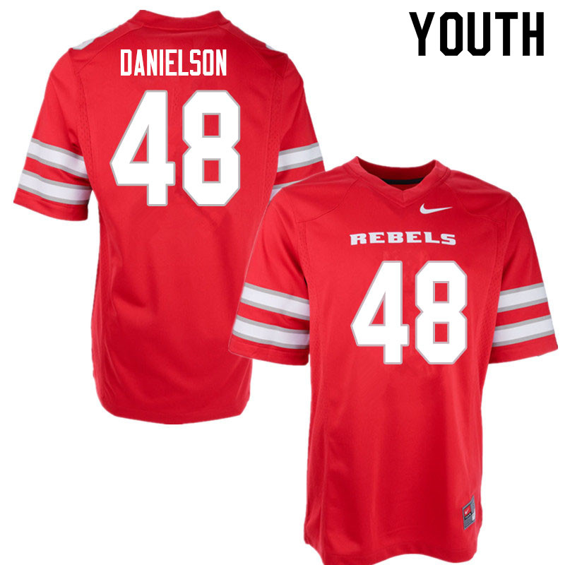 Youth #48 Royce Danielson UNLV Rebels College Football Jerseys Sale-Red