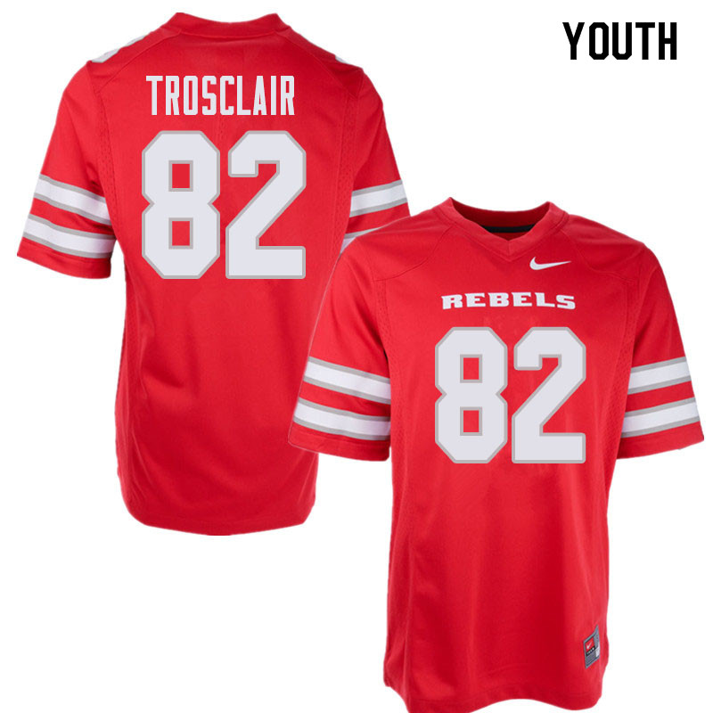 Youth UNLV Rebels #82 Elijah Trosclair College Football Jerseys Sale-Red