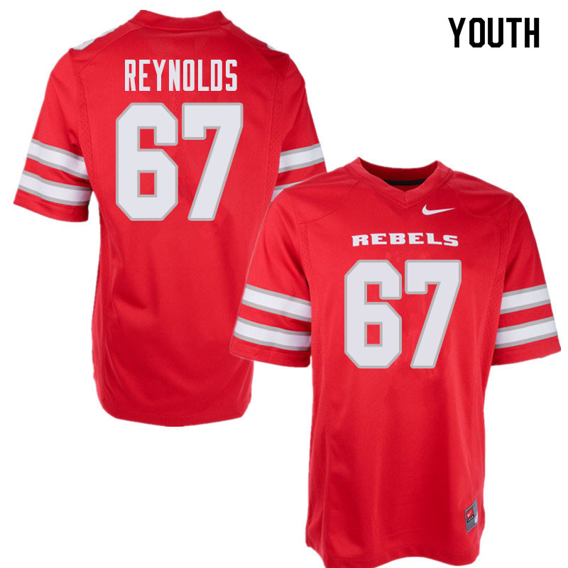 Youth UNLV Rebels #67 Jackson Reynolds College Football Jerseys Sale-Red