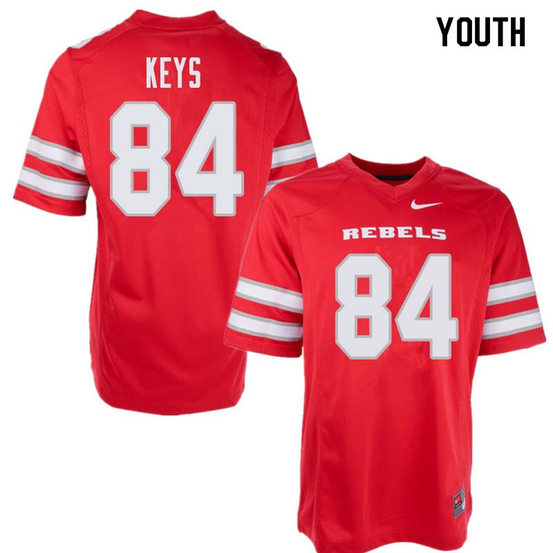 Youth UNLV Rebels #84 Kendal Keys College Football Jerseys Sale-Red
