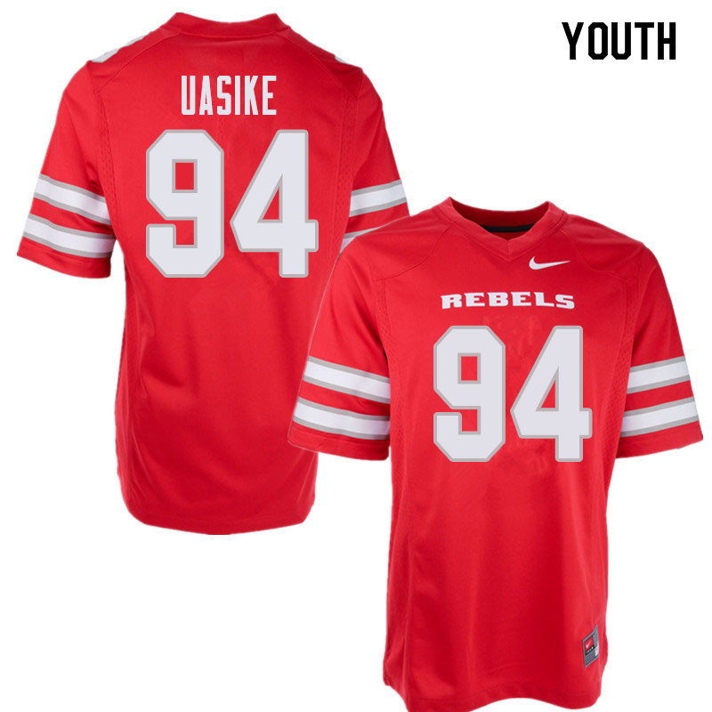 Youth UNLV Rebels #94 Kolo Uasike College Football Jerseys Sale-Red