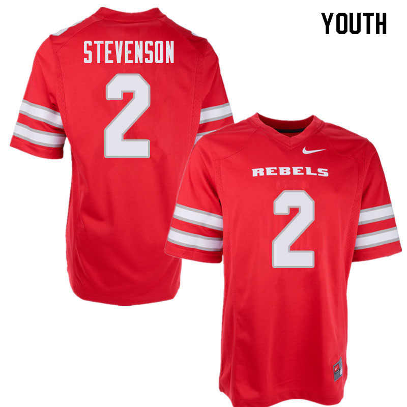 Youth UNLV Rebels #2 Mekhi Stevenson College Football Jerseys Sale-Red