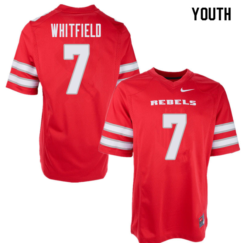 Youth UNLV Rebels #7 Reggie Whitfield College Football Jerseys Sale-Red