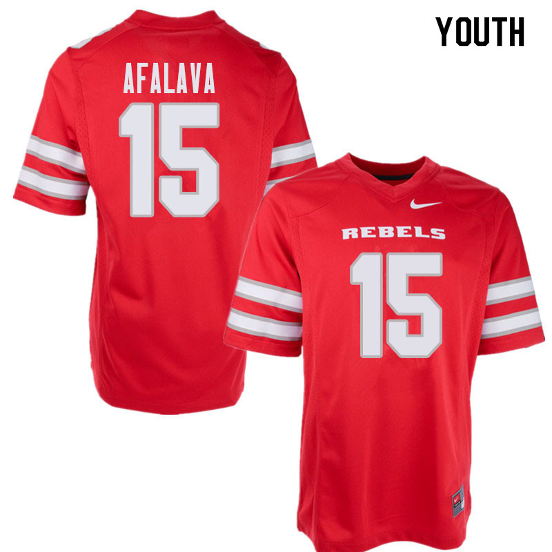 Youth UNLV Rebels #15 Soli Afalava College Football Jerseys Sale-Red